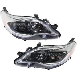 Set Of 2 Headlights Lamps Left-and-right 8111007122, 8115007122 Lh And Rh Pair