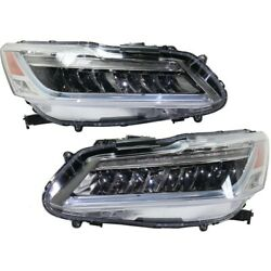 Pair Set Of 2 Headlights Lamps Left-and-right 33150t2aa42, 33100t2aa42 Lh And Rh