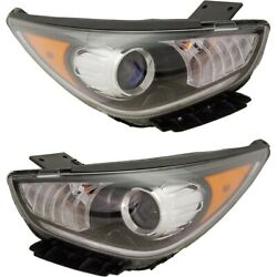 Headlights Lamps Set Of 2 Left-and-right 92102g5040, 92101g5040 Lh And Rh Pair