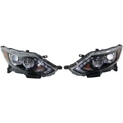 Set Of 2 Headlights Lamps Left-and-right 260106ma0a, 260606ma0a Lh And Rh Pair