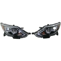 Set Of 2 Headlights Lamps Left-and-right 260106ma0a 260606ma0a Lh And Rh Pair
