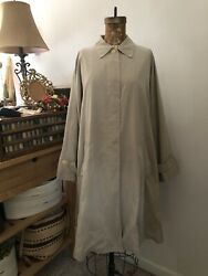 Max Mara Trench Coat Tan Size 10 L-xxxl Wool Cashmere Made In Italy