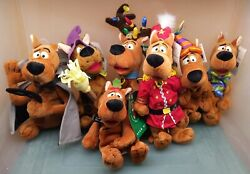 Warner Bros Studio Store 1997-99 Scooby-doo Holiday Lot Of 7 Bean Bag Plush
