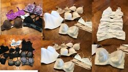 Huge 70 Piece Lot Lingerie Bras Slips Swimsuits Shapers +++great For Resale
