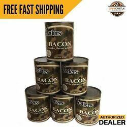 New Yoders Bacon Canned Half Case 6 Cans Free Shipping