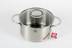 Schulte-ufer Stainless Steel 18/10 Saucepans With Lid 4 Qt 20cm Germany