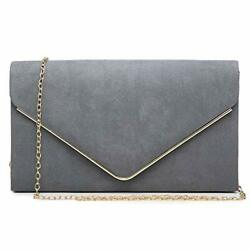 Women#x27;s Evening Clutch Bags Formal Party Clutches 1 gold Hardware Pewter $23.66