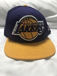 Vintage Los Angeles Lakers Sports Mitchell And Ness Spell Out Wool Snapback Hat