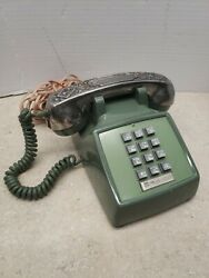 Vintage Bell System Western Electric Touch Tone Desk Phone W/ Gorham Silverplate