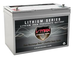 Vmax Lfp27-12100 12v Drop-in-ready Lithium Battery 100ah For Small Boat Canoe