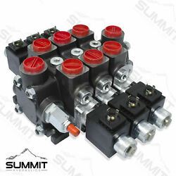 Hydraulic Solenoid Directional Control Valve, Double Acting, 3 Spool, 27 Gpm
