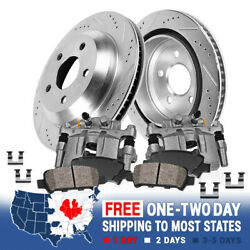 Rear Brake Calipers And Rotors + Pads For 2013 Audi A3 2010 Vw Gti