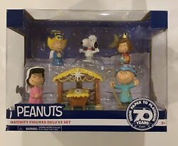 New Peanuts Nativity Figures Deluxe Set 2020 Snoopy Charlie Brown 70 Years