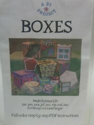 A Pj Project Embroidery Design Cd Boxes