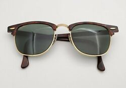 Vintage Bandl Bausch And Lomb G15 Gray Tortoise Clubmaster W0366