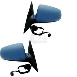 Exterior Mirror Set For Audi A6 Type 4f2 Year 04-08 Electric Right And Left Set