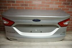 Silver 2013 Ford Fusion Se Trunk Lid W/ Inner Tail Light Lock Trim Wire Oem