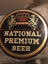 1950's National Premium Beer Button Sign Baltimore Md