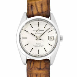 Ulysse Nardin High Beat 36000 Chronometer Ss Leather Menand039s Watch Automatic Used