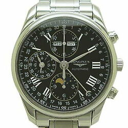 Longines L2.673.4.51.6 Master Collection Moon Phase Chronograph Menand039s Watch Used