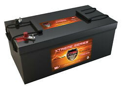 Vmax Xtr8d-310 12v 310ah Agm Deep Cycle Battery For Rv/boat/bus Auxiliary Power