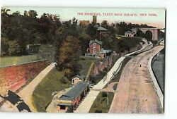 New York City Ny Postcard 1907-1915 The Speedway Taken From Heights