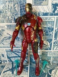 Marvel Legends Hasbro Civil War BAF Series Iron Man Battle Damaged Figure H