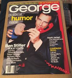 George Rare Political Humor Ben Stiller Cover August 1999, Very Good Condition