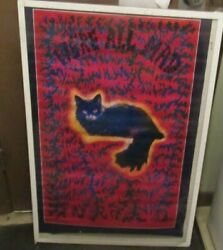 CHESHIRE CAT POSTER NEW RARE VINTAGE COLLECTIBLE psychedelic. 3D ISH
