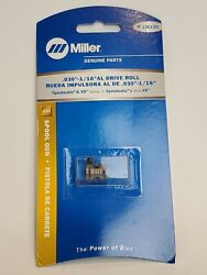 Genuine Miller 136135 Drive Roll .030-1/16 Al For Spoolmatic And Xr Series - Pb