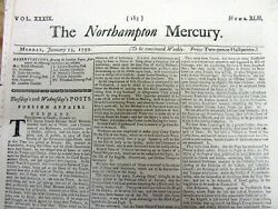 1759 French And Indian War Newspaper British Capture Ft Duquesne Pittsburgh Pennsy