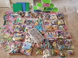 Massive Lego Friends Set Lot 100's Of Minifigs All Instructions 100 Complete