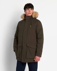 Lyle And Scott Parka Jacket With Winter Weight Microfleece Linin