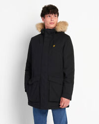 Lyle And Scott Parka Jacket With Winter Weight Microfleece Lining