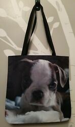 Tote Bag Boston Terrier puppy