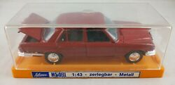 Red Mercedes 350 Shuco Modell Germany 143 Vintage Diecast Car And Display Case