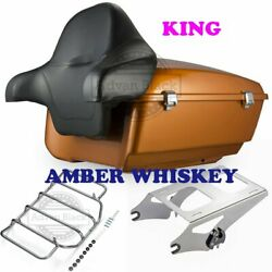 Amber Whiskey King Tour Pack Pak For 1997-2020 Harley Street Road Electra Glide