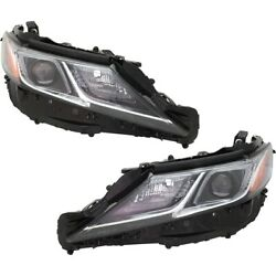 Pair Set Of 2 Headlights Lamps Left-and-right 8113033d40 8117033d00 Lh And Rh