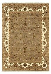 Indian Handmade Area Rug And039gyanakaland039 Hand Knotted Carpet Wool And Silk Rugs 8x10 Ft