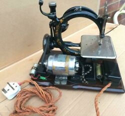 Antique Wilcox And Gibbs Chain Stitch Electric Sewing Machine