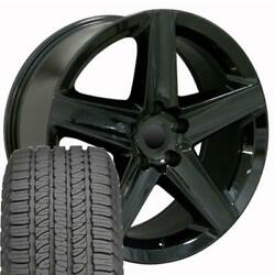 9082 Black 20 Wheel And Goodyear Tire Set Fit Jeep Grand Cherokee And Dodge