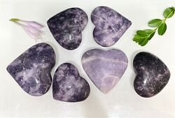 Wholesale Lot 2 Lbs Natural Lepidolite Crystal Heart ❤️ Nice Quality Healing