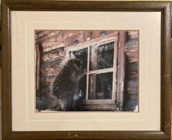 Rare And Sold Out Thomas Mangelsen Signed Porcupine In Window Ltd Ed 1984 119/950