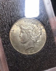 1927 P Peace Silver Dollar Uncirculated Better Date Low Mintage