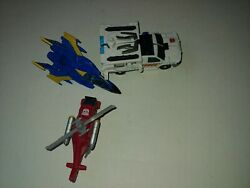 Vintage Transformers Pickup Utility Truck Helicopter Jet Plane Toy Vehicles