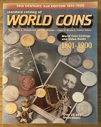 Standard Catalog Of World Coins 1801-1900 2nd Edition Value Guide Large Book