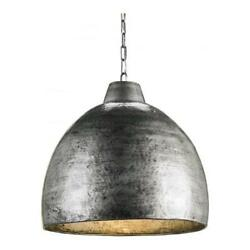 Currey 9782 Blackened Steel Earthshine One Light Pendant With Hammered Metal