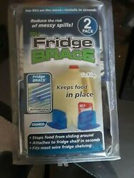 Camco Rv Fridge Brace -keeps Food In Place During Travel--new 2 Pack