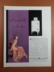 Antique 1930's General Electric All-steel Refrigerator - 1931 Art Deco Print Ad