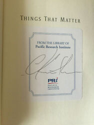 Things That Matter Signed 1st Edition Hardback By Charles Krauthammer